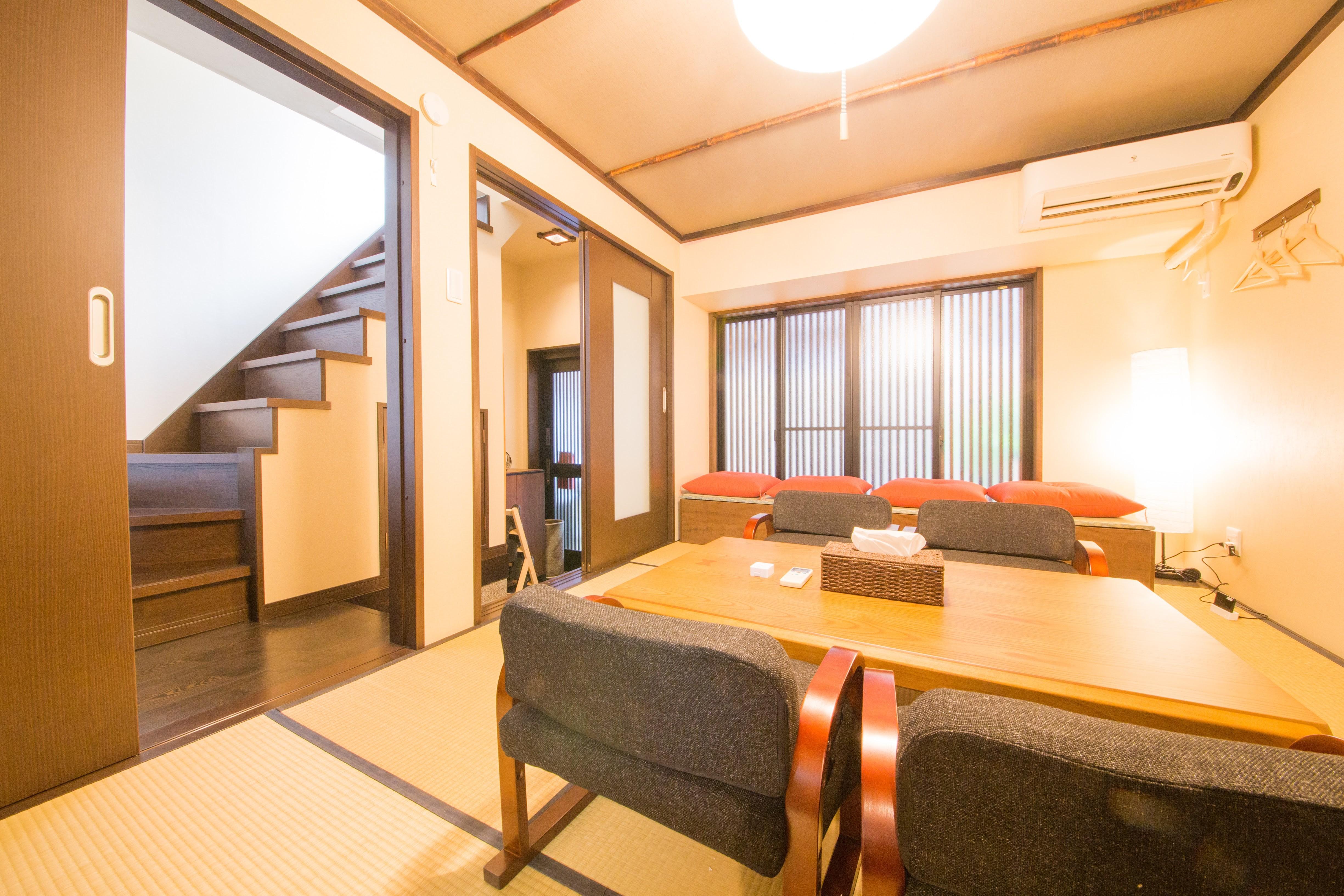 日式雙層旅居-烏丸站&烏丸御池站&四條站/附設家庭投影機/最多6人入住