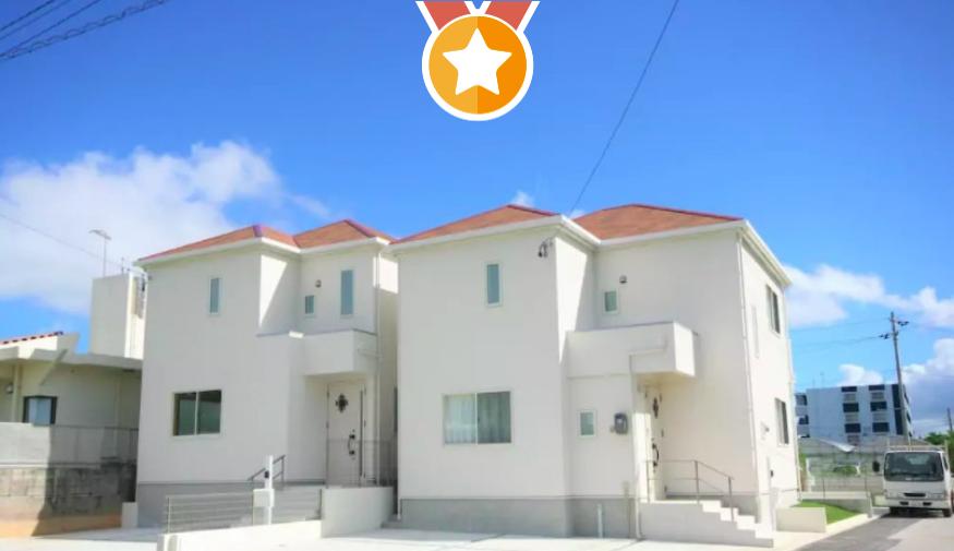 【家庭出遊】恩納村1: 純白獨棟旅居-免費停車位/近青之洞窟|最多11人|沖繩
